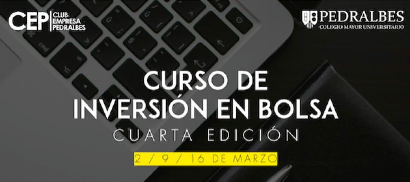 """Nueva edición del CE Pedralbes: """"IV Curso de Inversión en bolsa"""""""