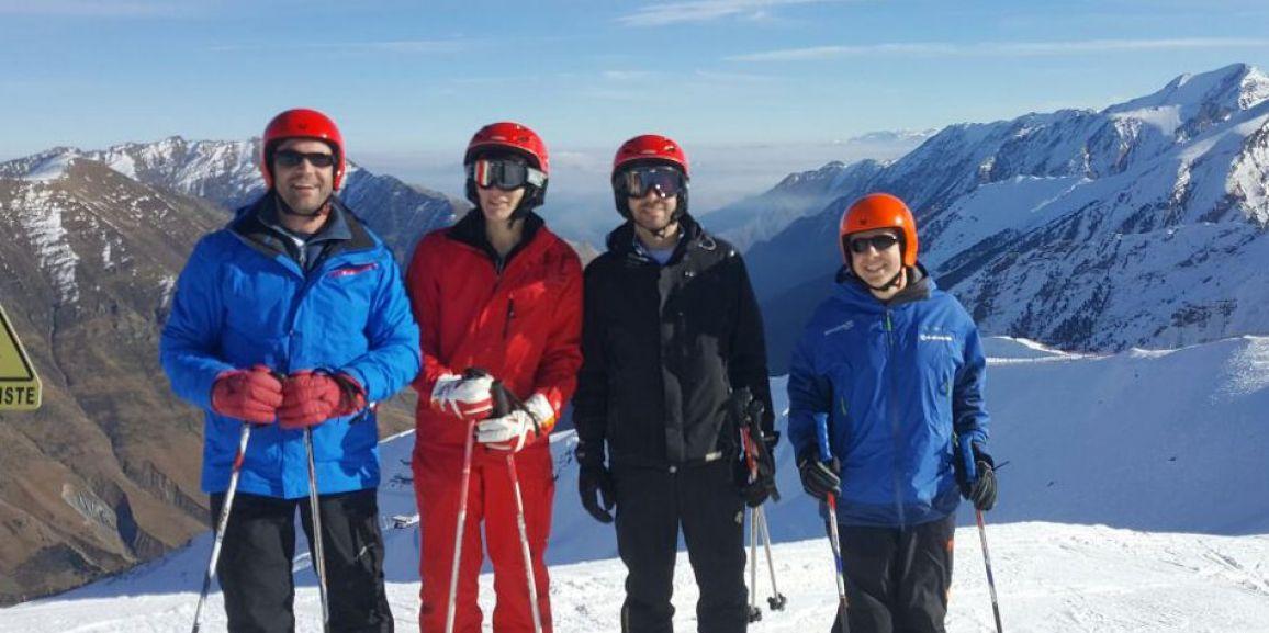 Convivencia de estudio y esquí